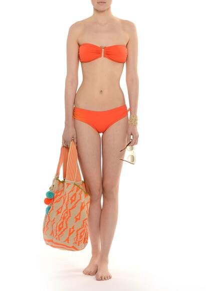 Onda de Mar Every Day Bandeau Bikini Orange
