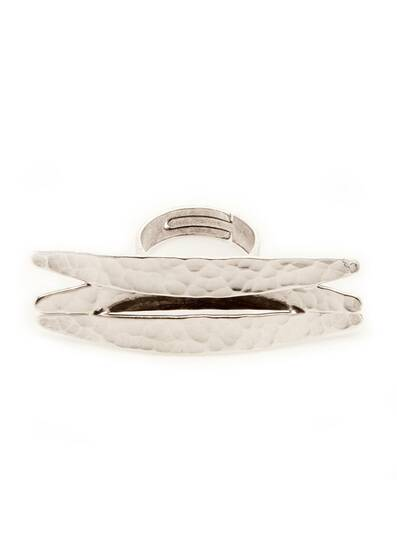 Ring Silver horizontal Koyo, dipped in a silver bath, Silver