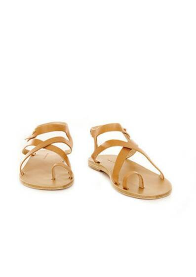 Arica Leather Sandals Tan
