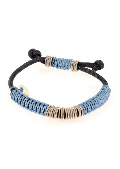 Bracelet Braided with Blue Cord
