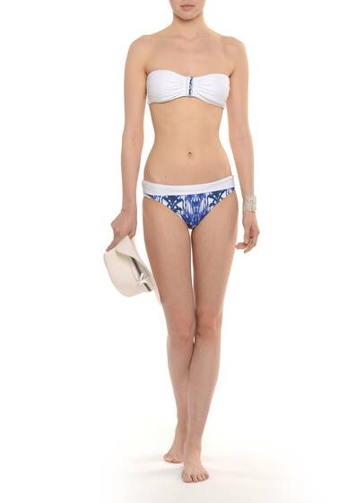 Bandeau Bikini Little Dix Bay Blue/White