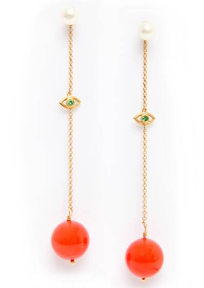 Earrings Coral Solar Eye