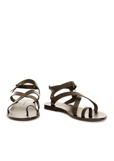 Arica Leather Sandals Black