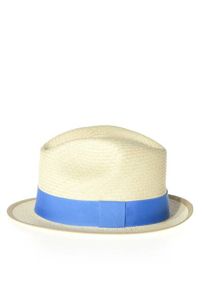URBANO narrow brimmed sun hat with trim, sky blue