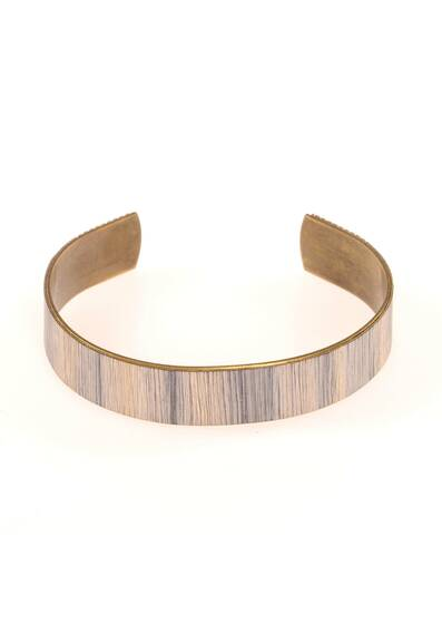 Eucalyptus Bracelet Made of Wood and Brass