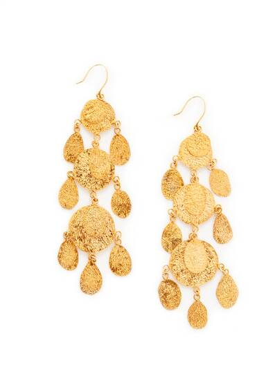 Mahsa Three Drop Earring, Gold Vermeil