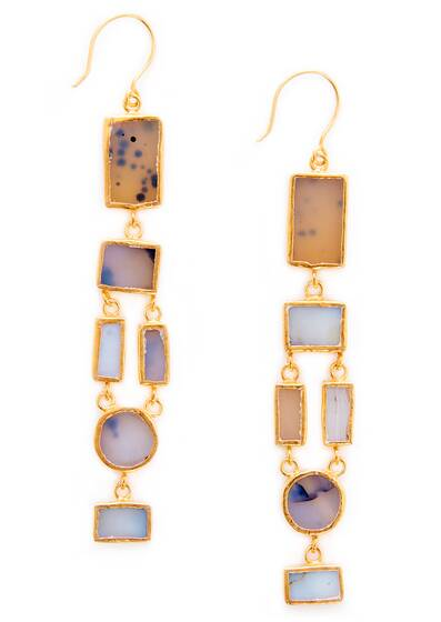 Tamadun Earrings, Agate