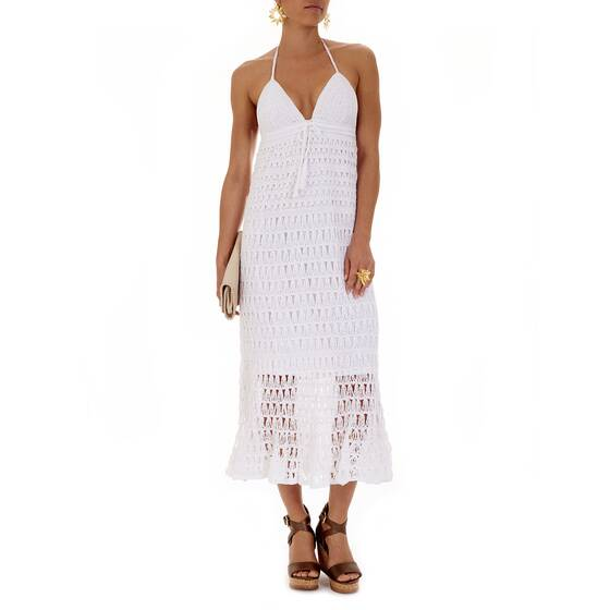 Long Dress White Crochet