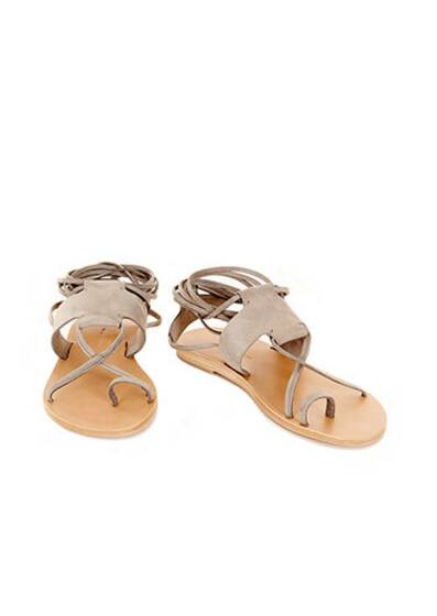 Maho Leather Sandals Light Grey