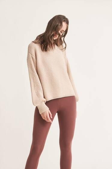 Aria Sweater, cashew