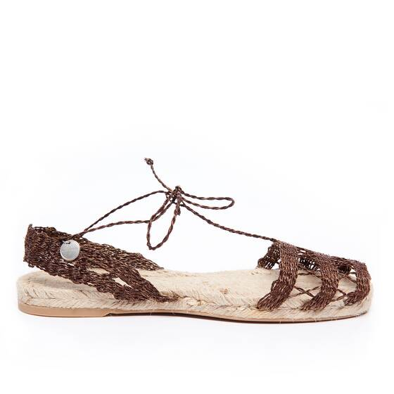 Espadrilles brown Double Calada