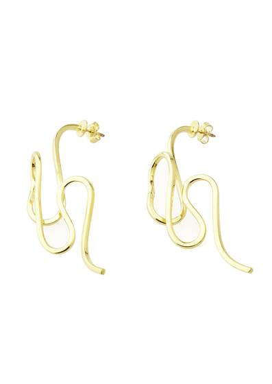 Earrings Gold Serpentine