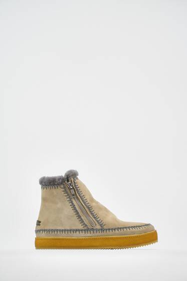 Setsu Crochet Side Zip Ankle Boot