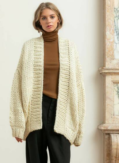 The Cardigan, cream