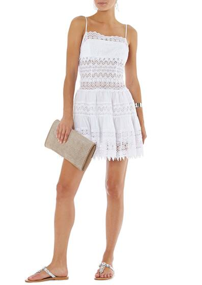 Short Dress Joya, white