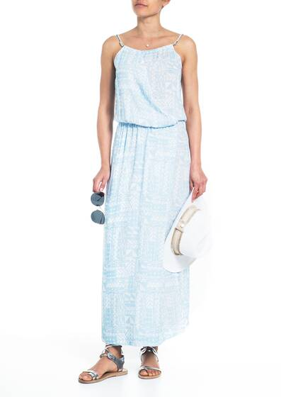 MM Maxi Dress, blue/white