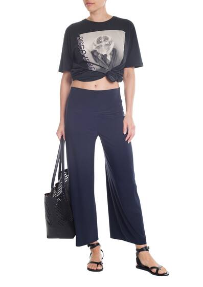 Hose 'Cropped Straight Leg', pewter
