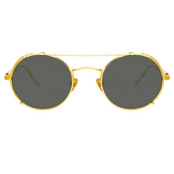 JIMI OVAL Sunglasses in Yellow Gold