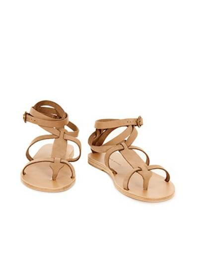 Sandy Cay Leather Sandals Khaki Beige
