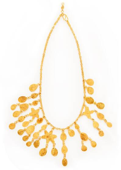 Sharq Long Necklace, Gold Vermeil