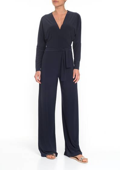 Dolman Wrap Jumpsuit, pewter