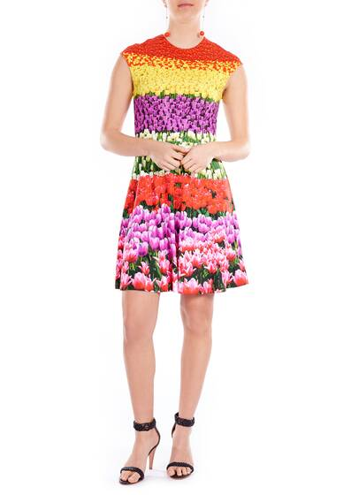 Kurzes Kleid Flowers Field