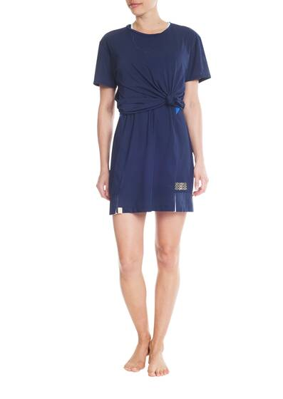 Leichtes T-Shirt Top, navy