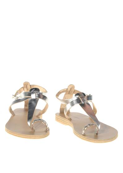 Lorient Leather Sandals Silver/Metallic Effect