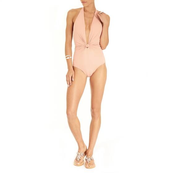 Swimsuit with Knot Detail