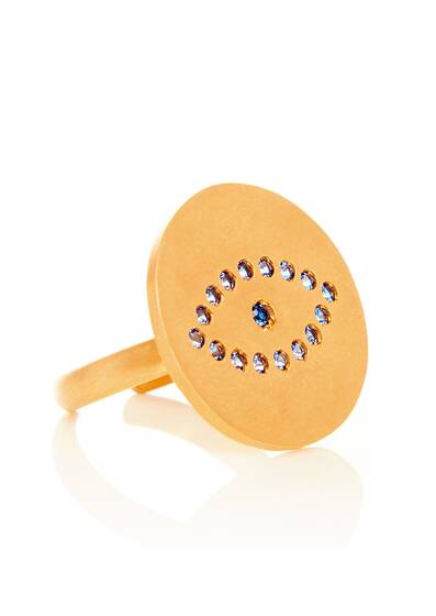 Polyphemos Open Ring, gold plated