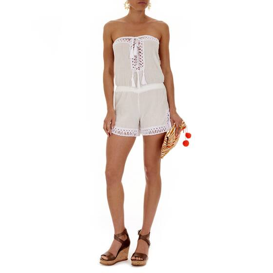 Jumpsuit Short White/White