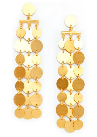 Alexandra Earrings, gold