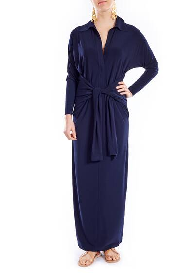 Kleid 'Ty Front NK Shirt Dress To Midcalf', midnight