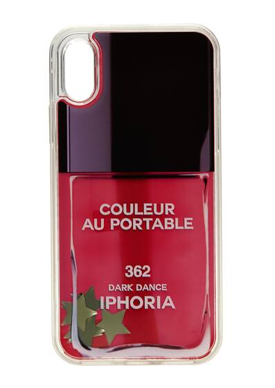 I Phone X Hülle - Nailpolish Stars Liquid Case für Apple