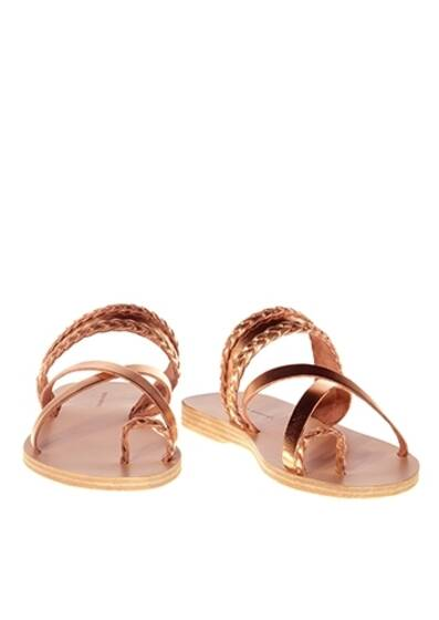 Vanilla Rum Leather Sandals Rose Metal
