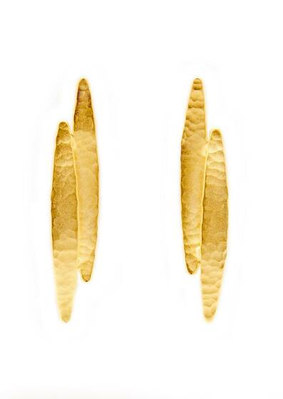 Earrings Golden Koyo, gold-plated, 18-carat gold Yellow gold